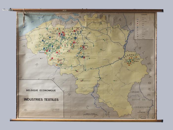 地図_Textile map of Belgium